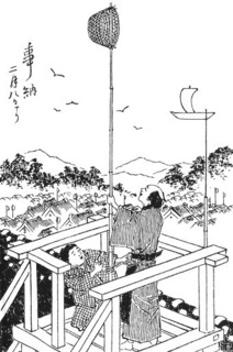 2月8日の「事納」に目籠を掲げている。鮮斎永濯(1884)『温古年中行事』.jpg