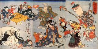 歌川国芳(1798–1861)の浮世絵の七福神。.jpg