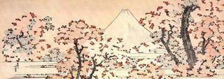 葛飾北斎によるサクラと富士の絵.jpg
